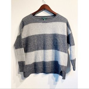 Ralph Lauren | Cashmere Striped Sweater Sz M